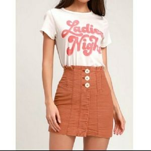 Free People Every minute Every hour skirt 8 NWT